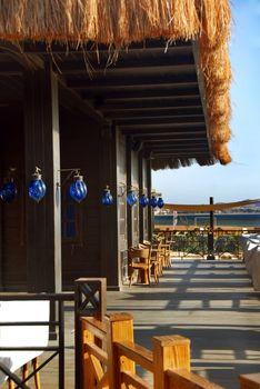 Terrace of restaurant
