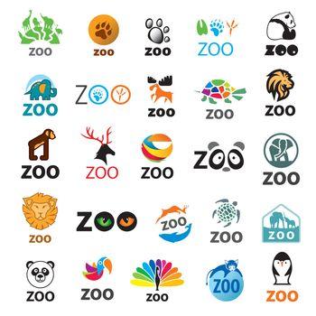 big set of vector logos zoo