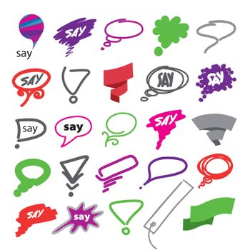 biggest collection of vector bubbles and ribbon