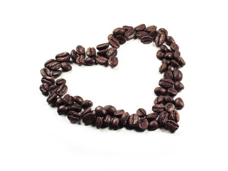 Isolate the heart of the coffee beans closeup