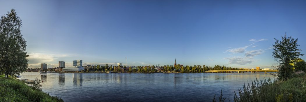 Panorama over Umeå, Sweden