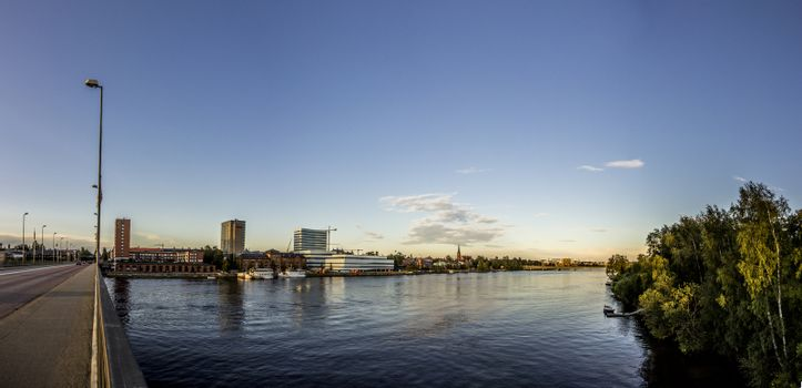 Swedish City with River