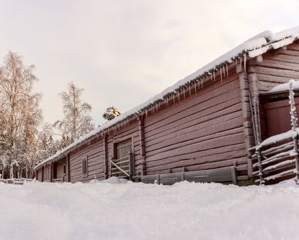 Swedish Old Farm House in Winter