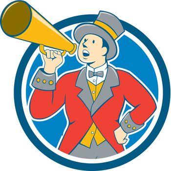 Circus Ringmaster Bullhorn Circle Cartoon