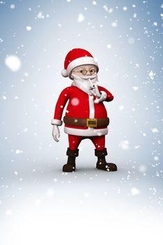 Composite image of cartoon santa