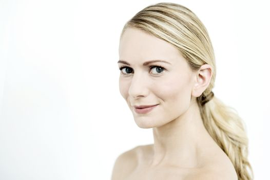 Close-up of elegant woman face