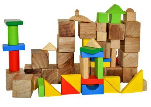 City of wooden blocks