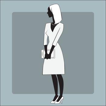 Businesswomen gadget office
