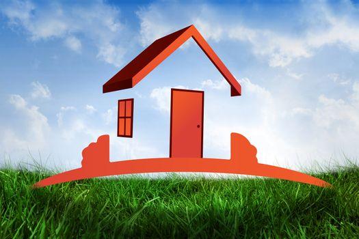 Composite image of orange house