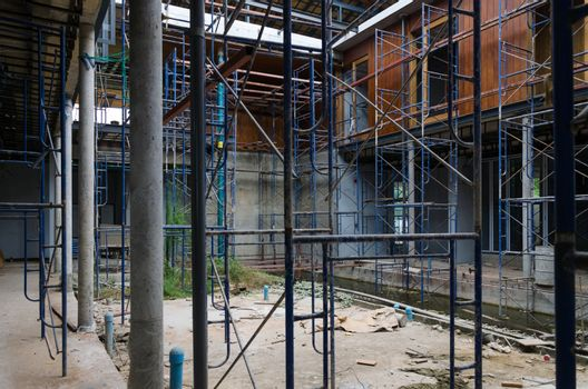 Courtyard of House under construction