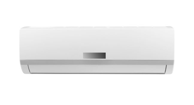 white air conditioner isolated