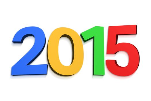 2015 in colourful letters