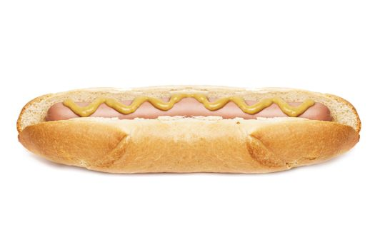 old-fashioned hot dog with mustard