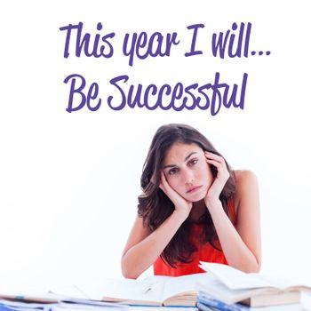 This year I will against stressed student at desk