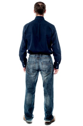 Back view of business executive