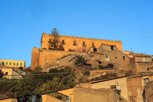 View of the Branciforti building in Leonforte, Sicily