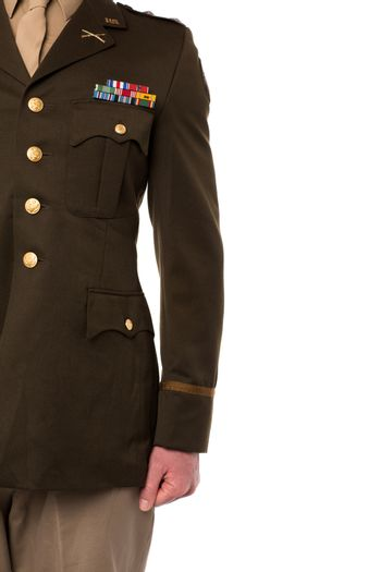 Cropped image of military officer
