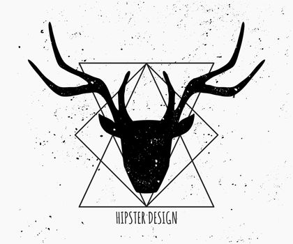 Deer Head Silhouette Design