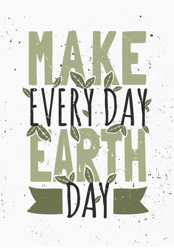 Earth Day Typographic Poster