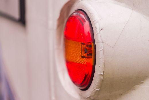 Closeup of car backlight