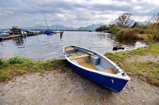 Boat at lake Chiemsee in Germany