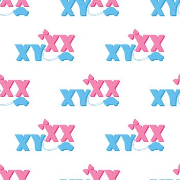 seamless pattern of ultrasound with xx and xy