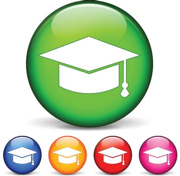vector illustration of circle icons for education