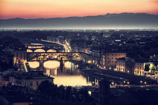 Beautiful Florence at night