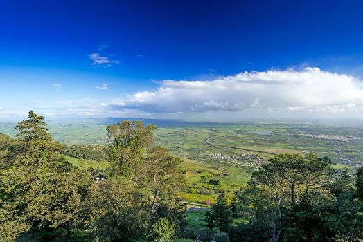 Panoramic view on the valleys of Sicily