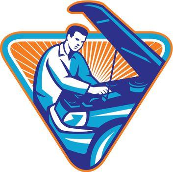 Automobile Mechanic Repair Car Retro