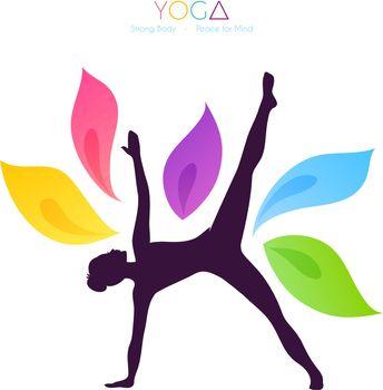 Vector illustration of Beautiful woman doing yoga