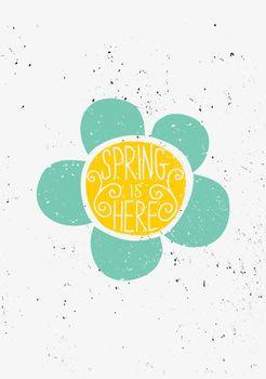Hand Drawn Spring Flower Typographic Design
