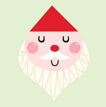 Adorable christmas Santa isolated on white. Vector cartoon illustration