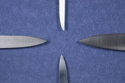 four knife silver blades