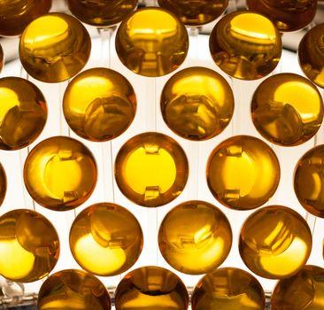 translucent spherical shapes