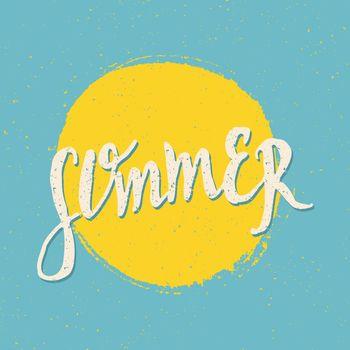 Retro Style Typographic Summer Design