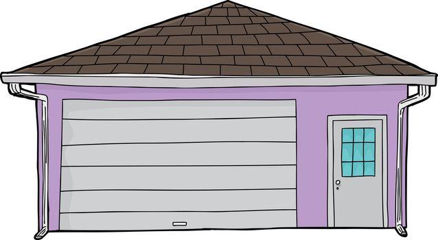 Isolated Closed Door Garage
