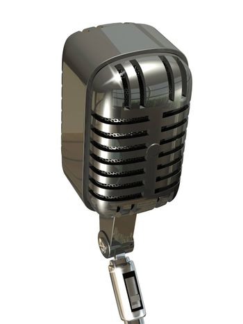 Illustration of a Microphone on a White Background