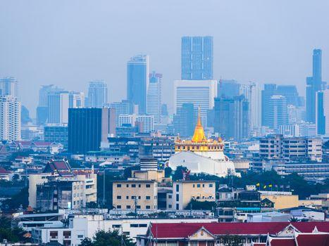 Wat Saket in Bangkok at dusk