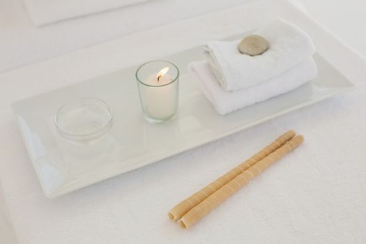 Towel and other spa objects