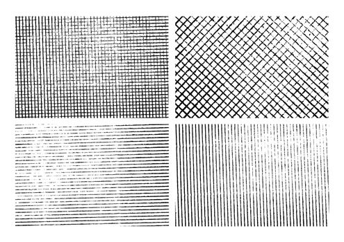 Set of isolated grunge stripe textures illustration background. EPS10 vector file.