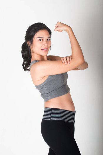 Beauty and healthy woman working out