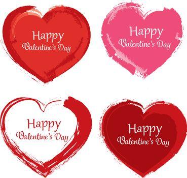 valentine day symbol paint brush