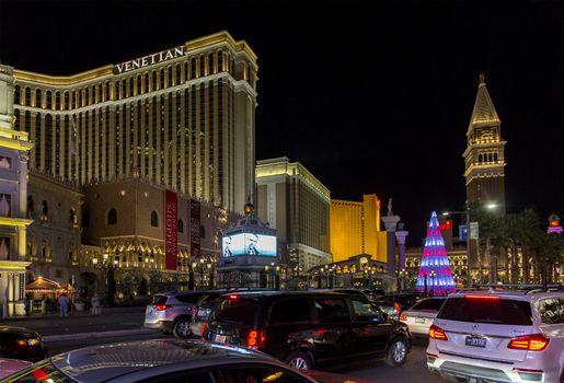 Las Vegas Strip at Christmas