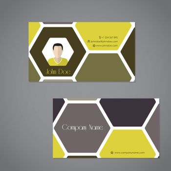 Cool business card with two sides