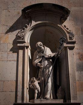 Dresden, Germany, Statue in Zwinger.