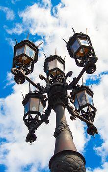Historical lantern in Dresden Germany.