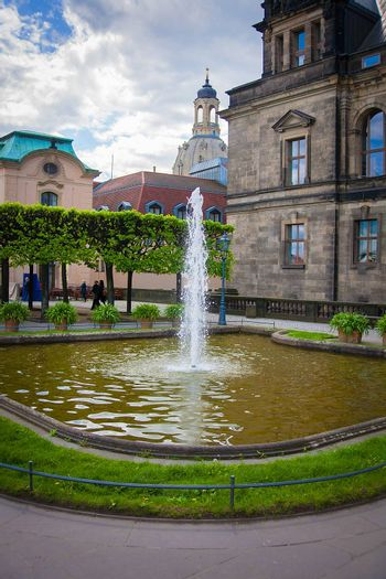 Fountain of the Zwinger palace, Dresden, Germany