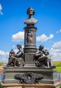Statue of Ernst Friedrich August Rietschel