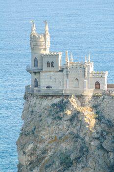Beautiful Swallow's Nest Castle on the Rock, Crimea, Ukraine